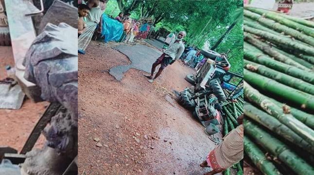 নাটোরে ট্রলি উল্টে বাঁশের নিচে চাপা পড়ে যুবকের মৃত্যু