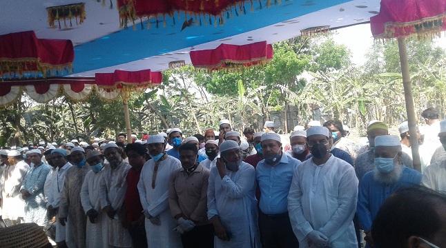 বিএনপি নেতা সানাউল্লাহ'র জানাজা সম্পন্ন
