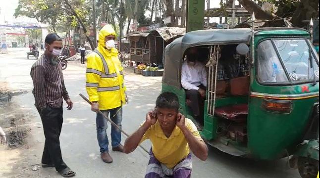 করোনা: টাঙ্গাইলে সামাজিক দূরুত্ব বজায়ে পুলিশি এ্যাকশন