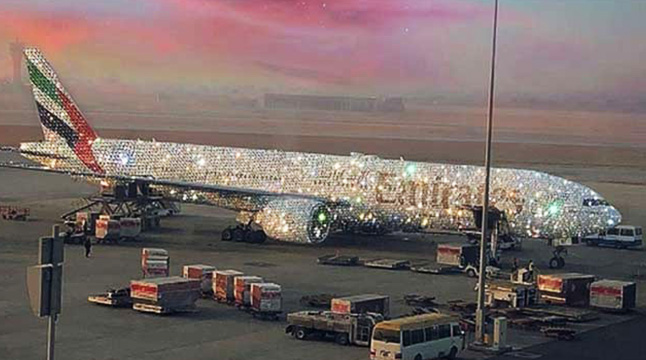 হীরায় মোড়ানো বিমান 'ডায়মন্ড A380'