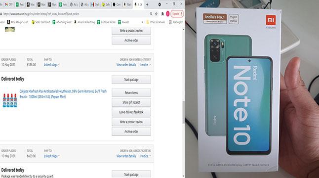মাউথওয়াশ অর্ডার করে পেলো Redmi Note10