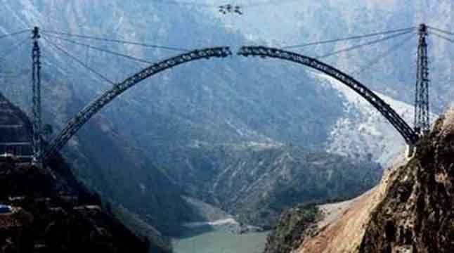 ভূস্বর্গে তৈরি হচ্ছে বিশ্বের উচ্চতম রেলসেতু